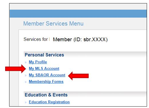 if you are a member of both the mls and the association you must pay both bills separately by clicking both links